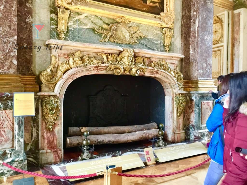 large fireplace at palace of Versailles