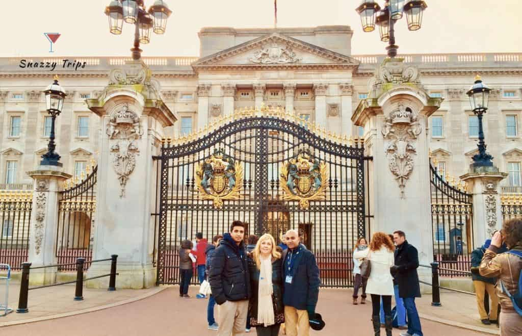 Buckingham Palace front gate Snazzy Trips travel blog
