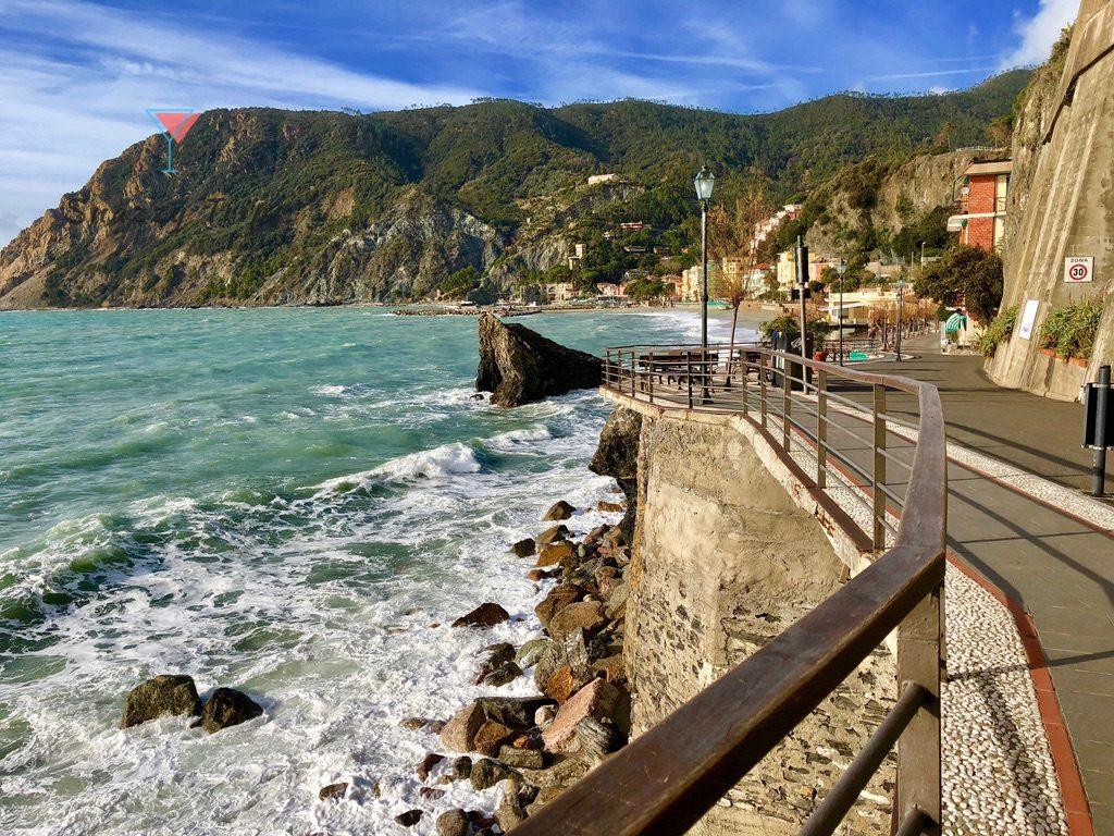 Seaside and boardwalk