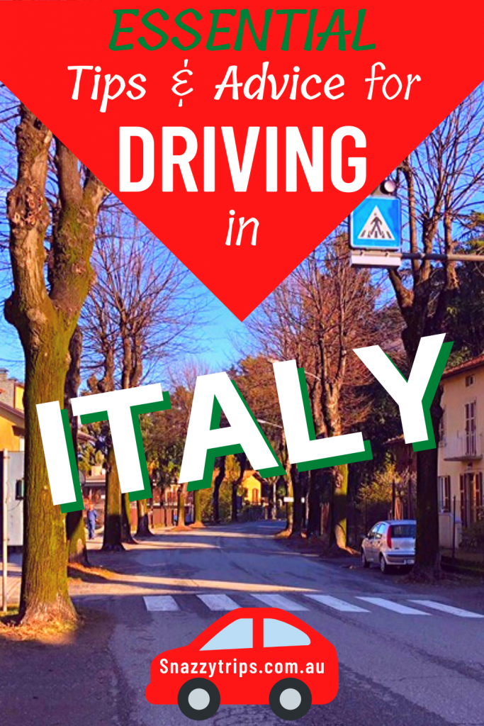 tips for driving in italy