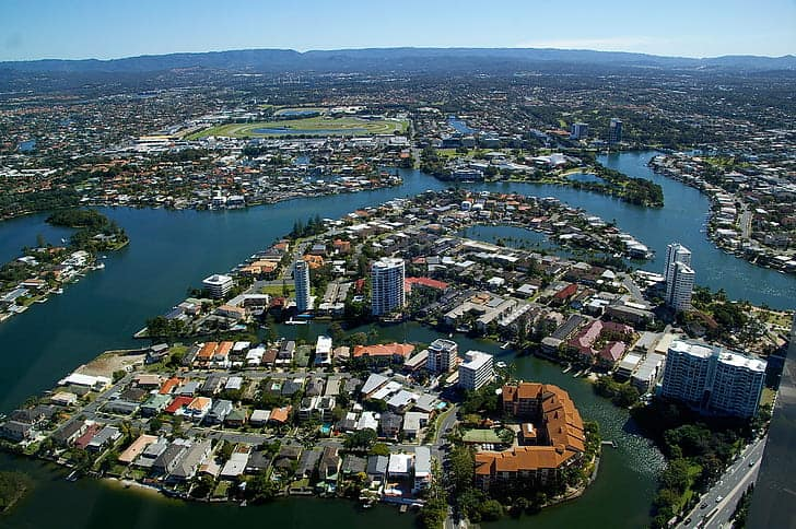 gold coast city canals houses waterway Snazzy Trips travel blog