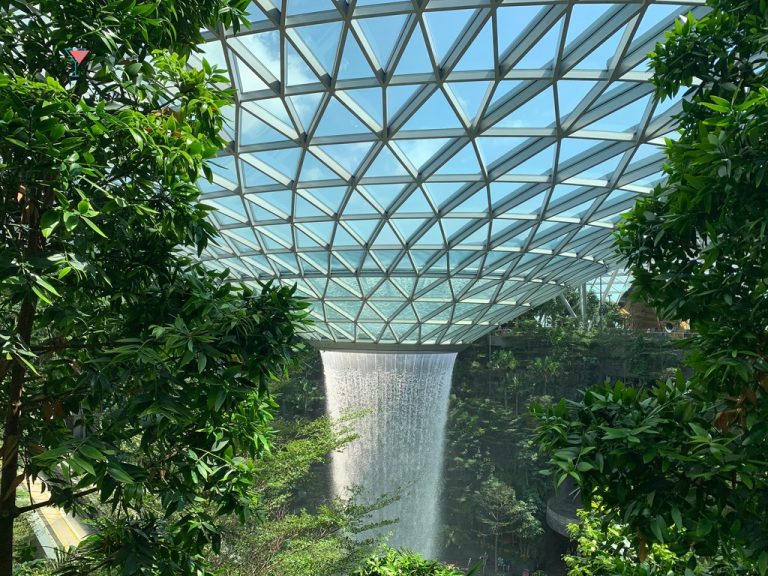 Must-See Indoor Waterfall At Singapore Airport