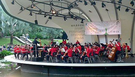 SingaporeSymphony Orchestra in botanic gardens Snazzy Trips travel blog
