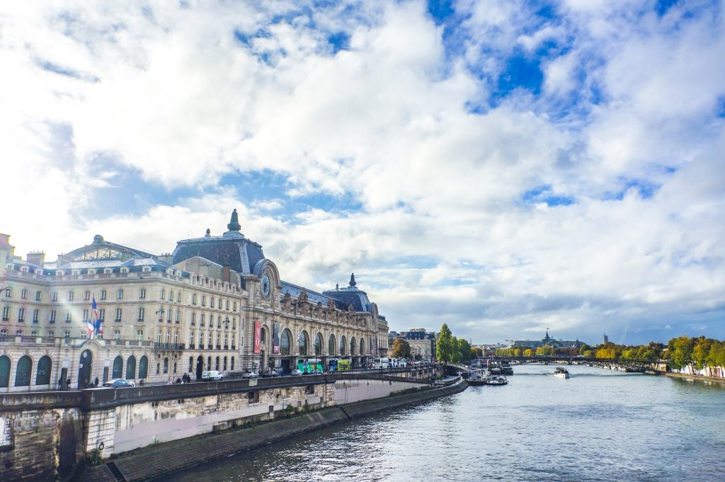 Musée d'Orsay and the river Seine in Paris