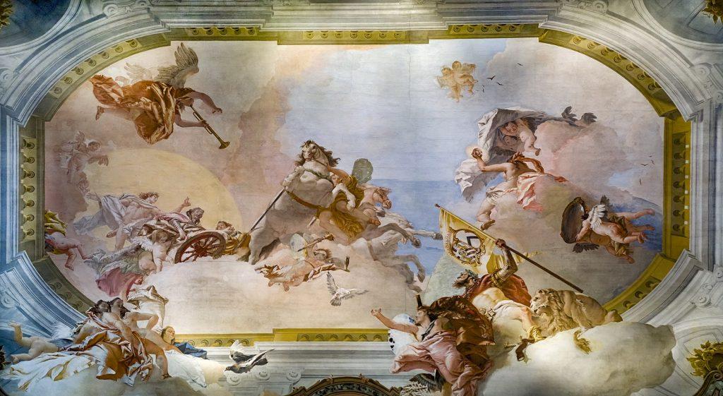 1600px Ca Rezzonico Allegoria nuziale di Ludovico Rezzonico e Faustina Savorgnan 1757 Giambattista Tiepolo Snazzy Trips travel blog