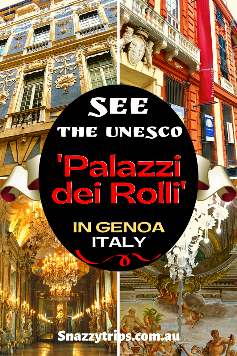 The Palaces of The Rolls in Genoa Italy