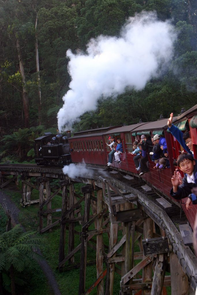 Puffing billy in action 2003 Snazzy Trips travel blog