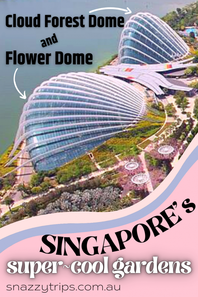 Cloud Forest Dome and Flower Dome in Singapore